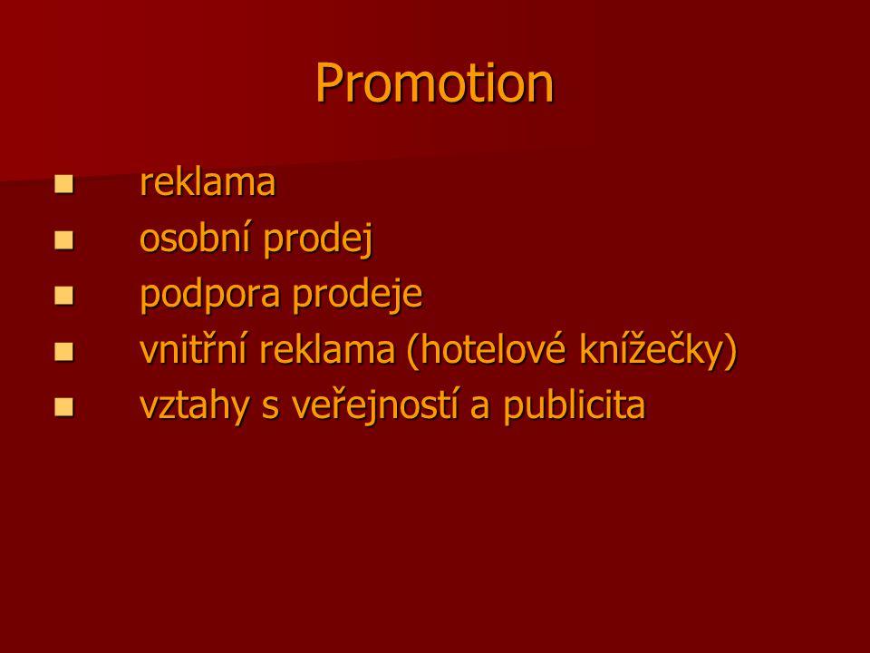 Promotion reklama osobní prodej podpora prodeje