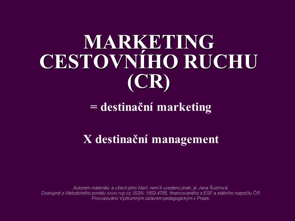 MARKETING CESTOVNÍHO RUCHU (CR)
