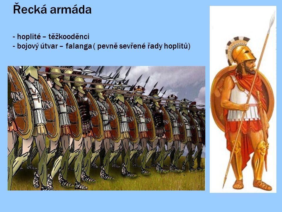 Řecká armáda hoplité – těžkooděnci