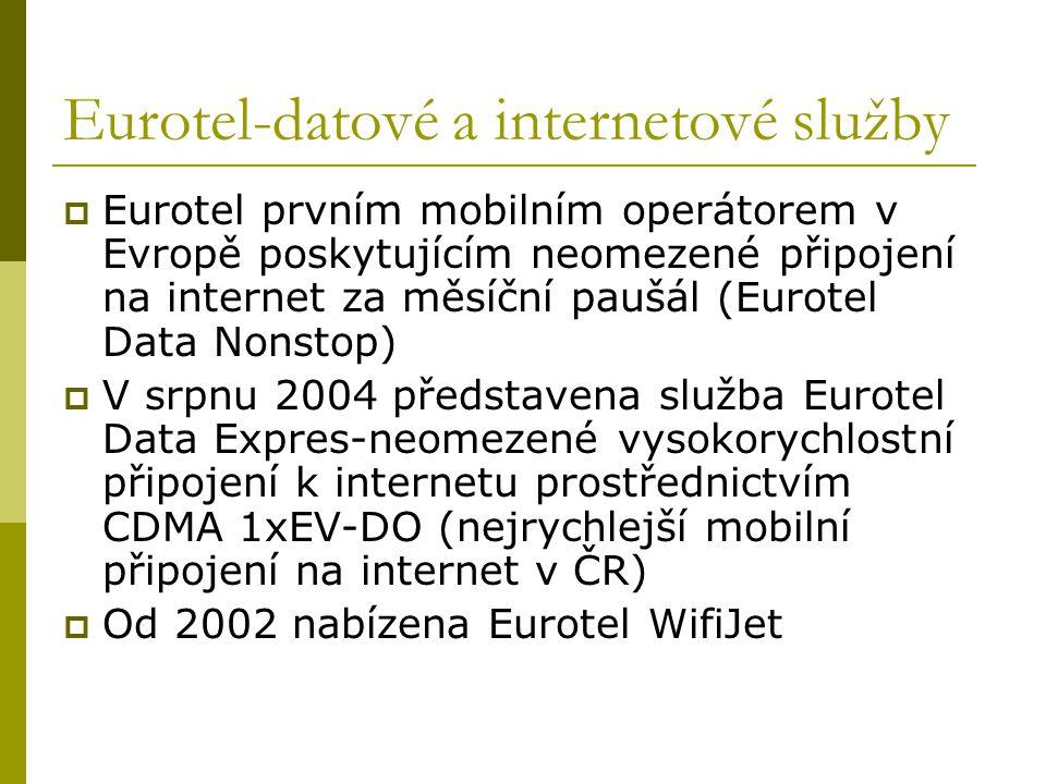 Eurotel-datové a internetové služby