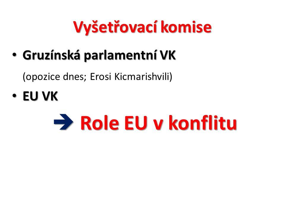  Role EU v konflitu Vyšetřovací komise Gruzínská parlamentní VK