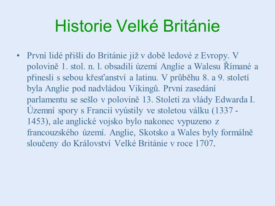 Historie Velké Británie