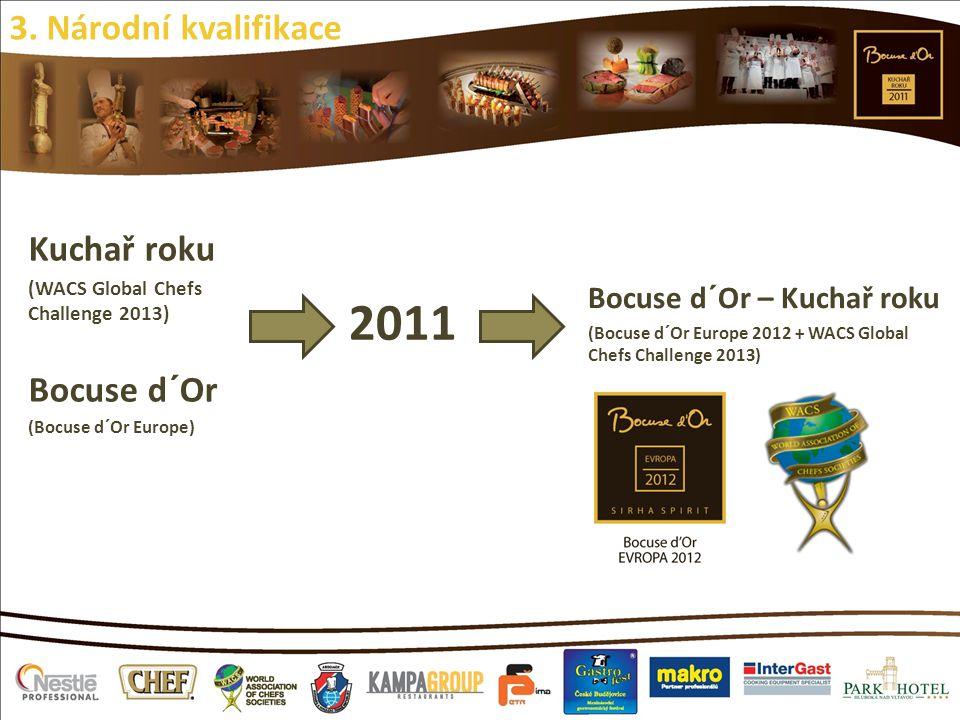 2011 3. Národní kvalifikace Kuchař roku Bocuse d´Or