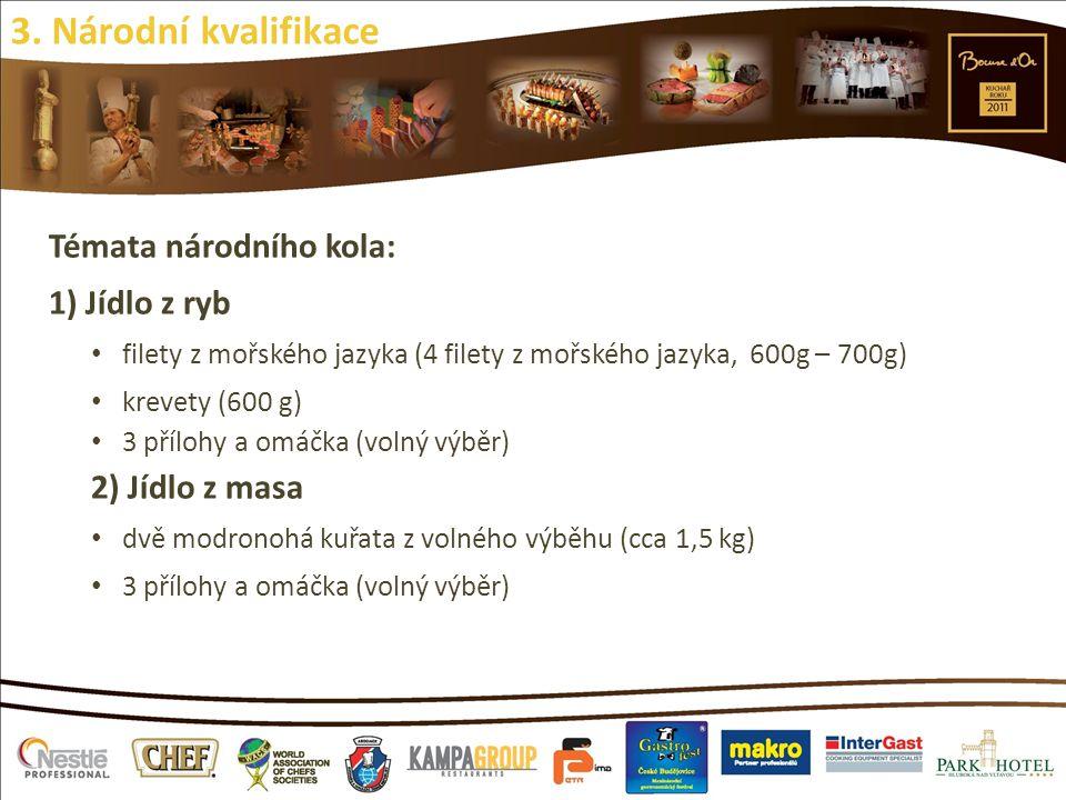 3. Národní kvalifikace Témata národního kola: 1) Jídlo z ryb
