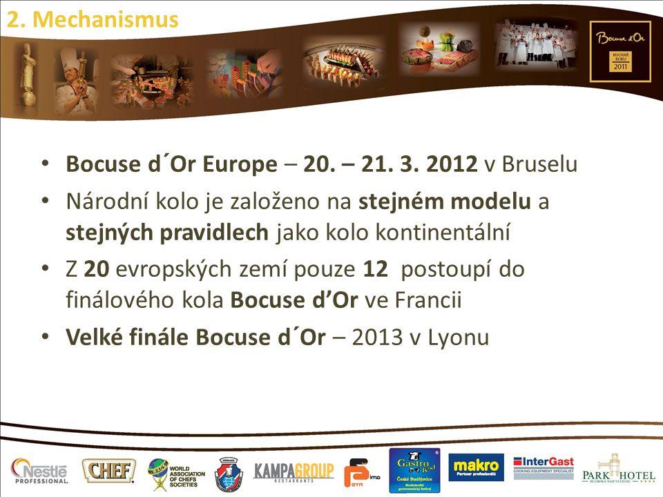 2. Mechanismus Bocuse d´Or Europe – 20. – 21. 3. 2012 v Bruselu.