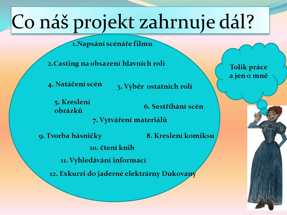 Co náš projekt zahrnuje dál