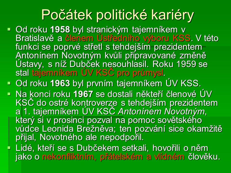 Počátek politické kariéry