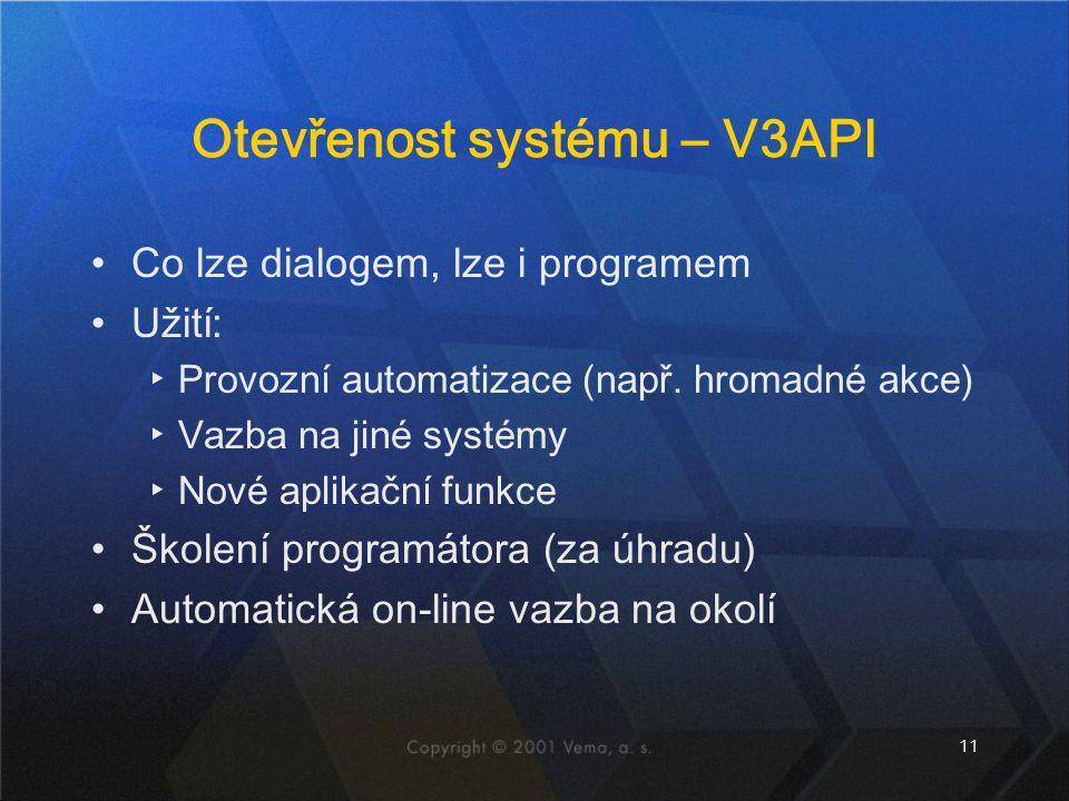 Otevřenost systému – V3API