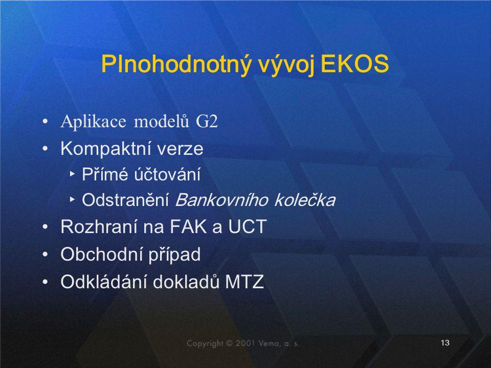 Plnohodnotný vývoj EKOS