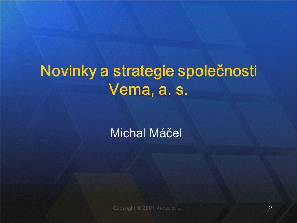 Novinky a strategie společnosti Vema, a. s.