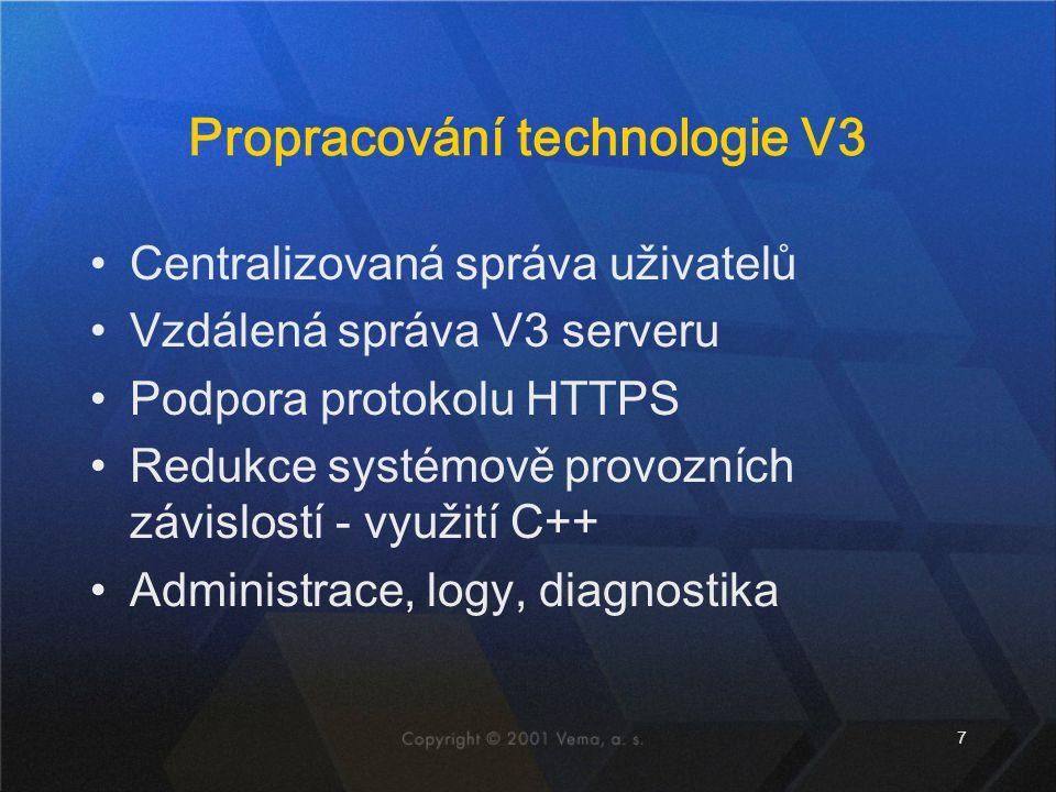 Propracování technologie V3
