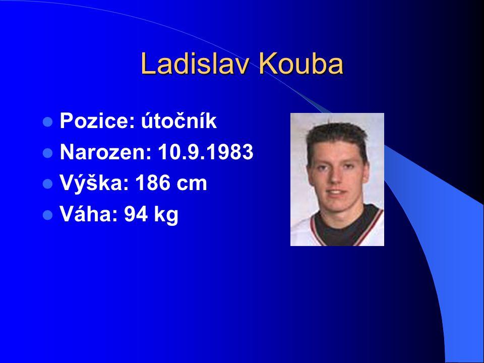 Ladislav Kouba Pozice: útočník Narozen: 10.9.1983 Výška: 186 cm