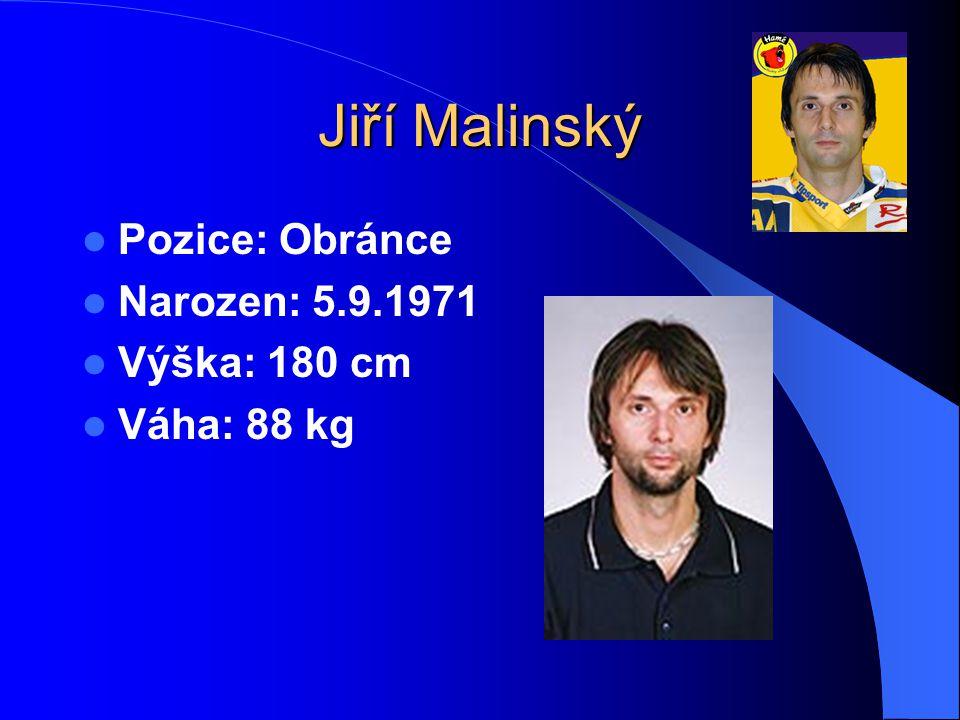 Jiří Malinský Pozice: Obránce Narozen: 5.9.1971 Výška: 180 cm