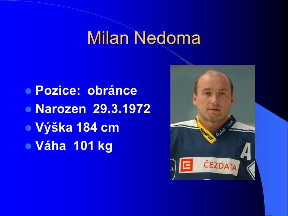 Milan Nedoma Pozice: obránce Narozen 29.3.1972 Výška 184 cm