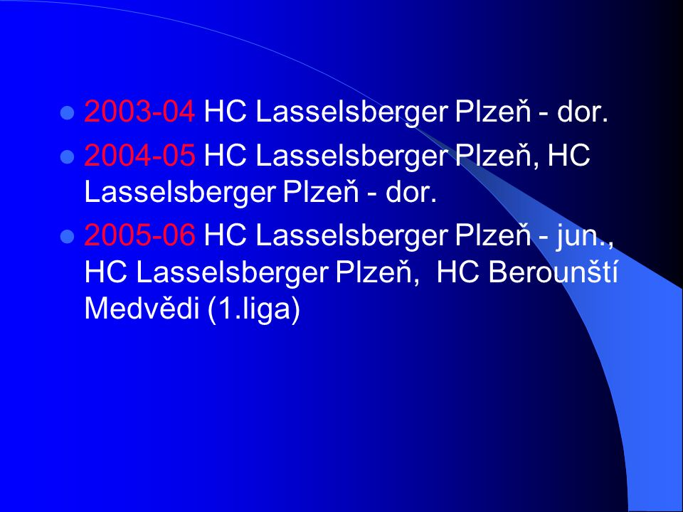2003-04 HC Lasselsberger Plzeň - dor.
