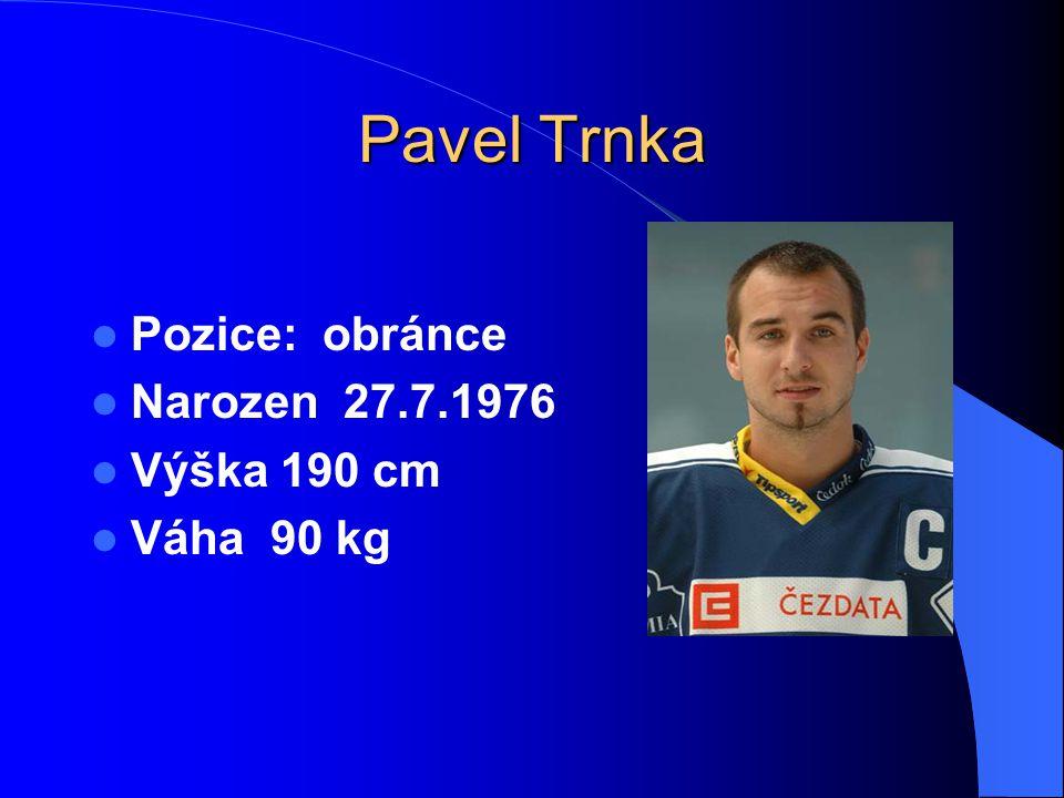 Pavel Trnka Pozice: obránce Narozen 27.7.1976 Výška 190 cm Váha 90 kg