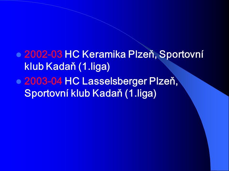 2002-03 HC Keramika Plzeň, Sportovní klub Kadaň (1.liga)