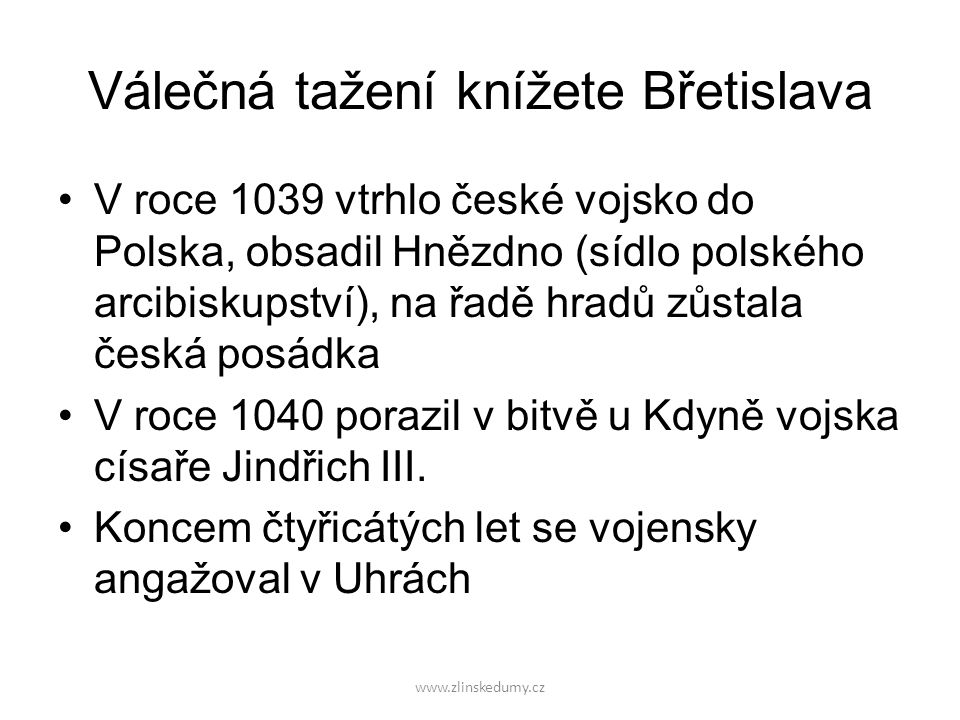 Válečná tažení knížete Břetislava