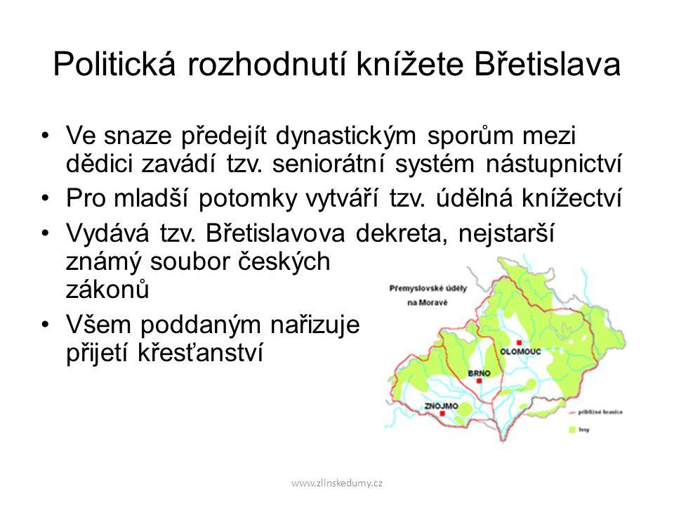 Politická rozhodnutí knížete Břetislava