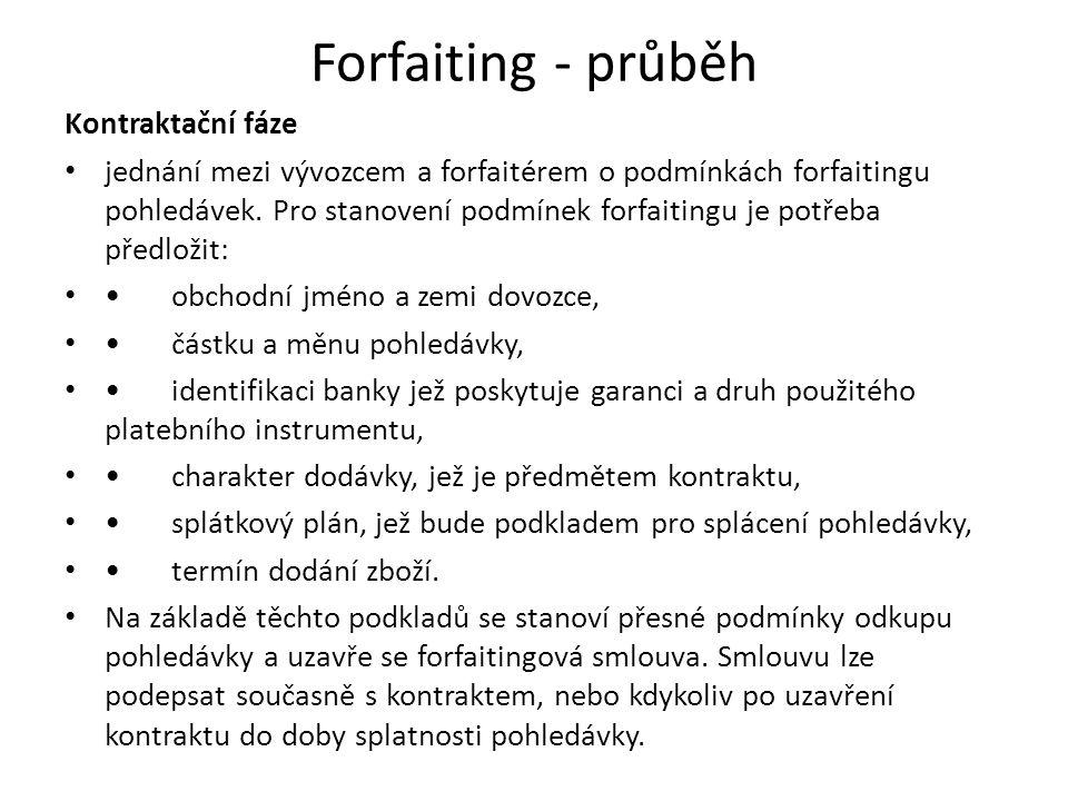 Forfaiting - průběh Kontraktační fáze