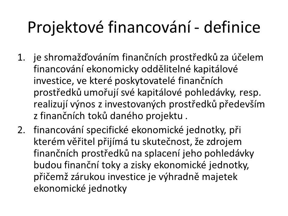 Projektové financování - definice