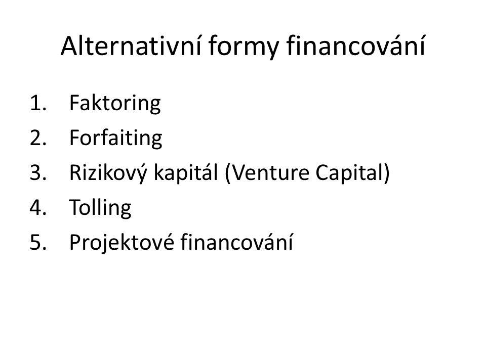 Alternativní formy financování