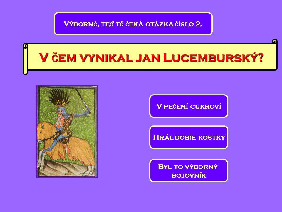 V čem vynikal jan Lucemburský