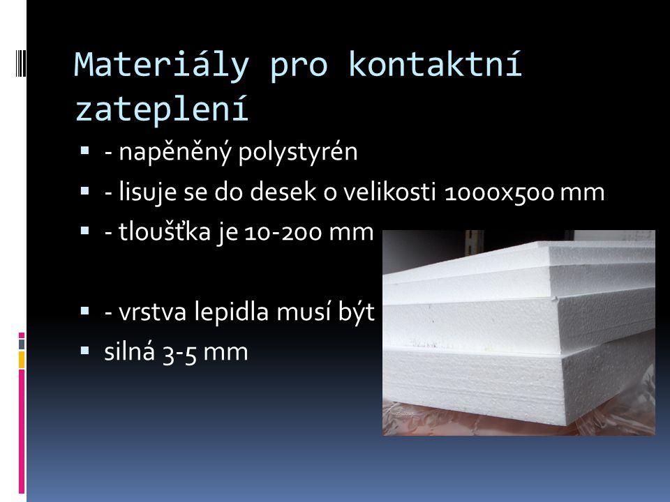 Materiály pro kontaktní zateplení