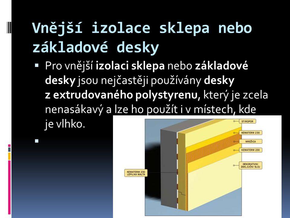 Vnější izolace sklepa nebo základové desky