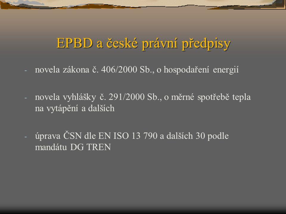 EPBD a české právní předpisy
