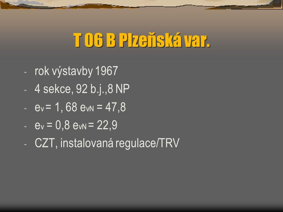 T 06 B Plzeňská var. rok výstavby 1967 4 sekce, 92 b.j.,8 NP