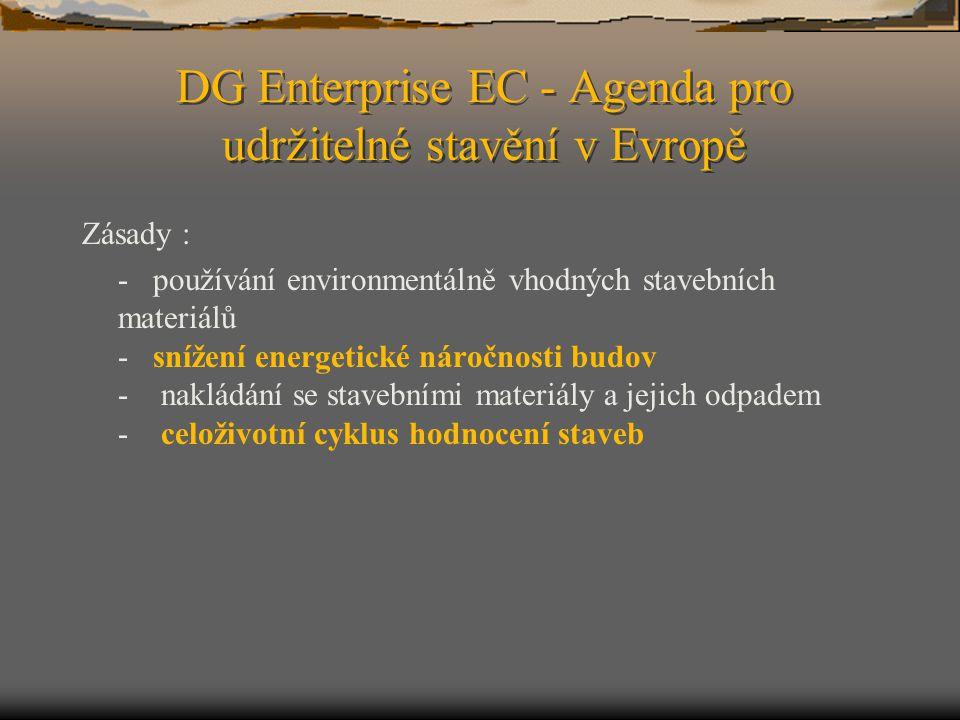 DG Enterprise EC - Agenda pro udržitelné stavění v Evropě