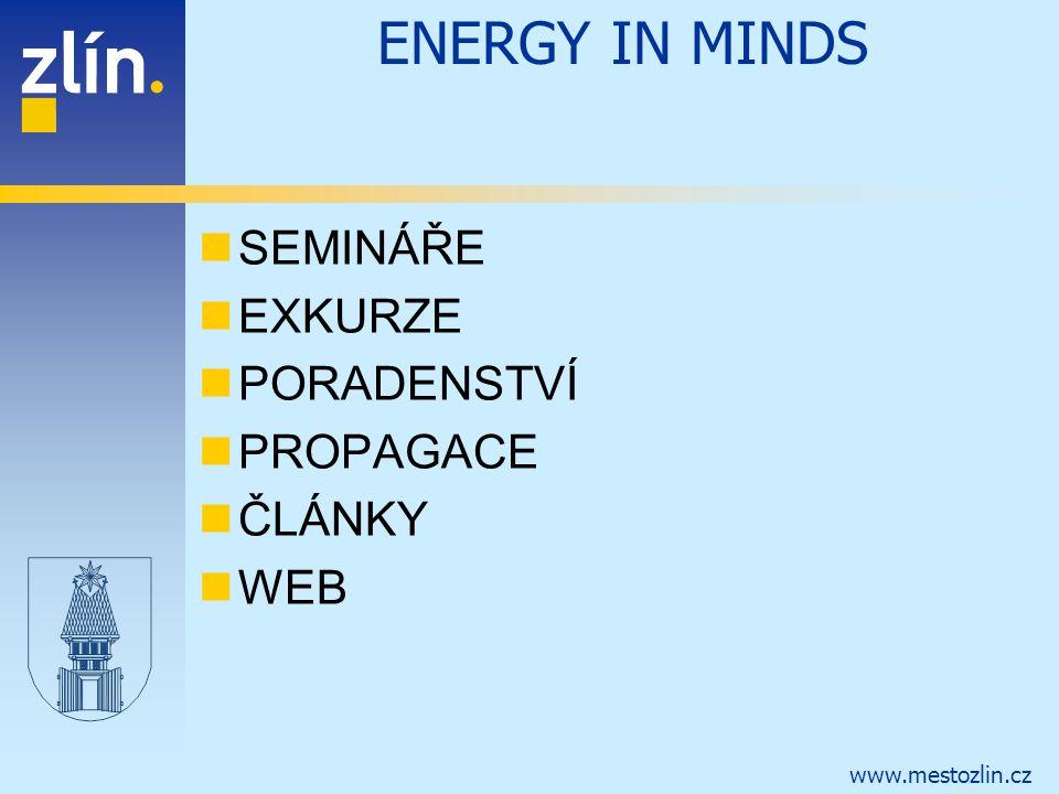 ENERGY IN MINDS SEMINÁŘE EXKURZE PORADENSTVÍ PROPAGACE ČLÁNKY WEB