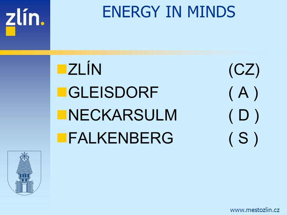ENERGY IN MINDS ZLÍN (CZ) GLEISDORF ( A ) NECKARSULM ( D ) FALKENBERG ( S )