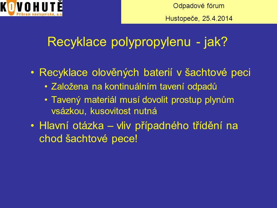Recyklace polypropylenu - jak
