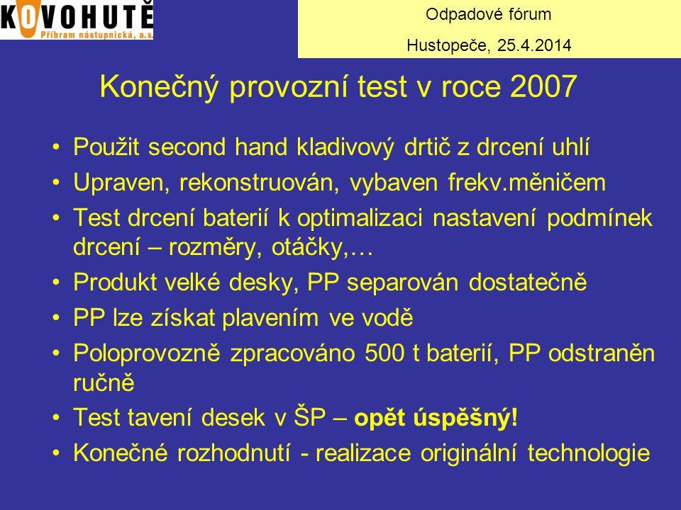 Konečný provozní test v roce 2007