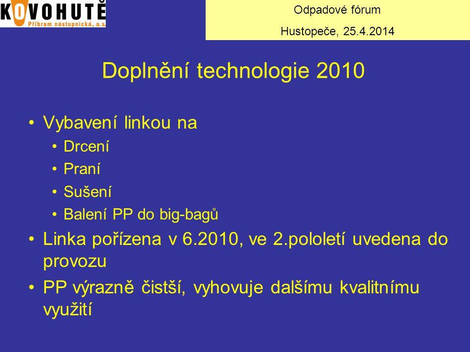 Doplnění technologie 2010 Vybavení linkou na