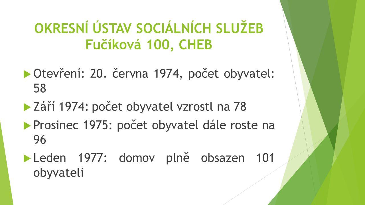 OKRESNÍ ÚSTAV SOCIÁLNÍCH SLUŽEB Fučíková 100, CHEB