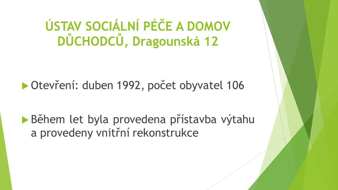 ÚSTAV SOCIÁLNÍ PÉČE A DOMOV DŮCHODCŮ, Dragounská 12