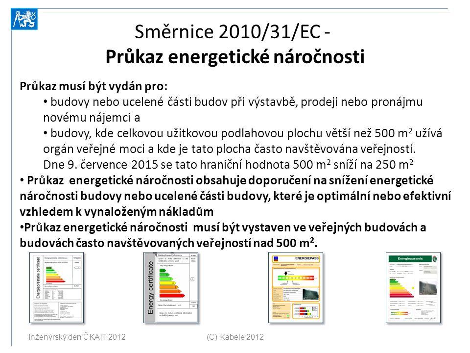 Směrnice 2010/31/EC - Průkaz energetické náročnosti