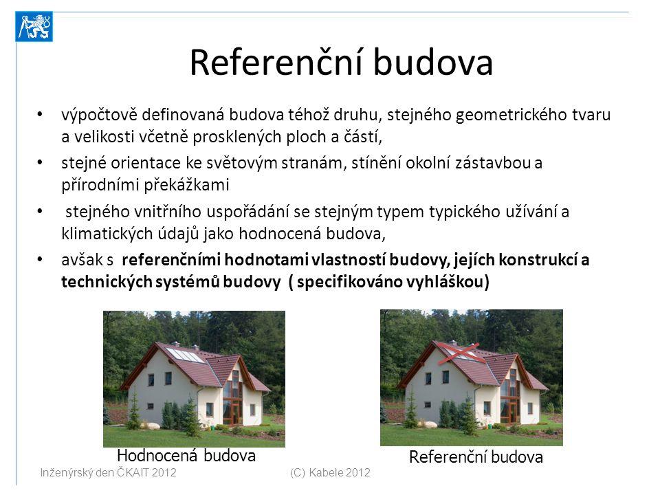 Referenční budova výpočtově definovaná budova téhož druhu, stejného geometrického tvaru a velikosti včetně prosklených ploch a částí,