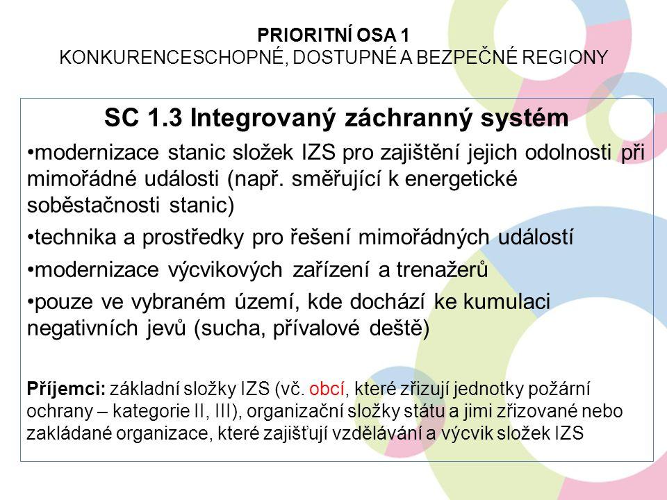 SC 1.3 Integrovaný záchranný systém