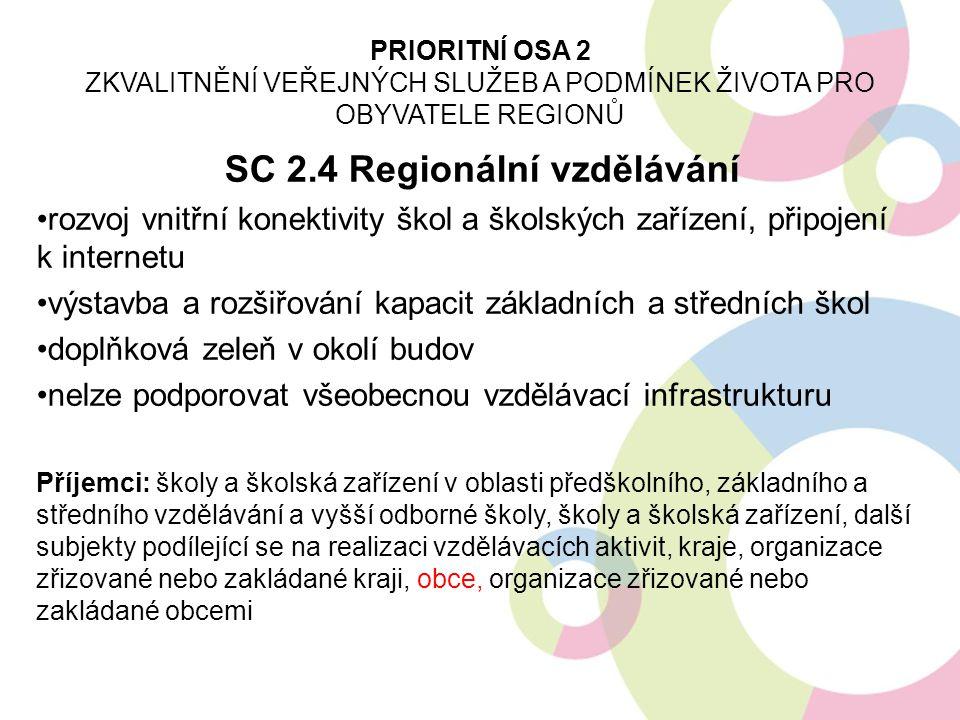 SC 2.4 Regionální vzdělávání