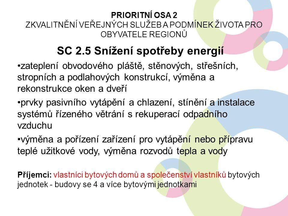 SC 2.5 Snížení spotřeby energií