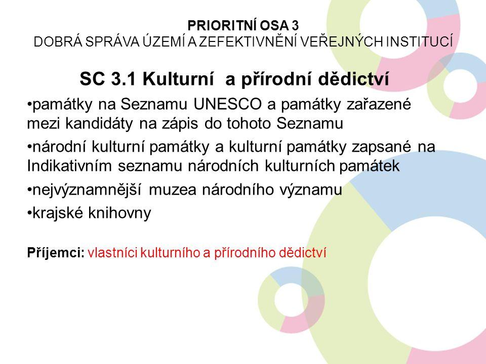 SC 3.1 Kulturní a přírodní dědictví