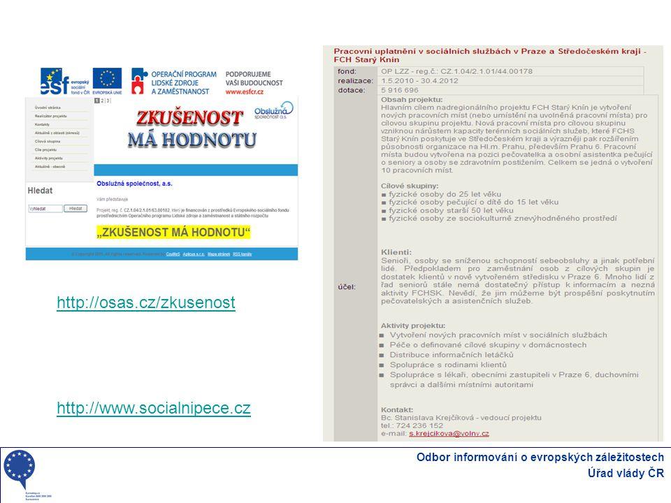 http://osas.cz/zkusenost http://www.socialnipece.cz