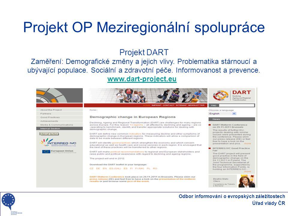 Projekt OP Meziregionální spolupráce