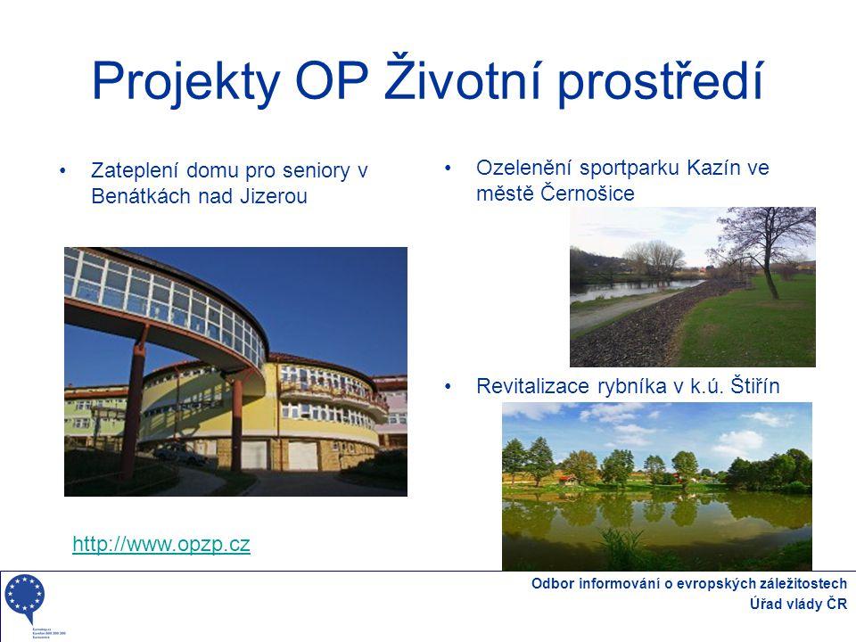 Projekty OP Životní prostředí