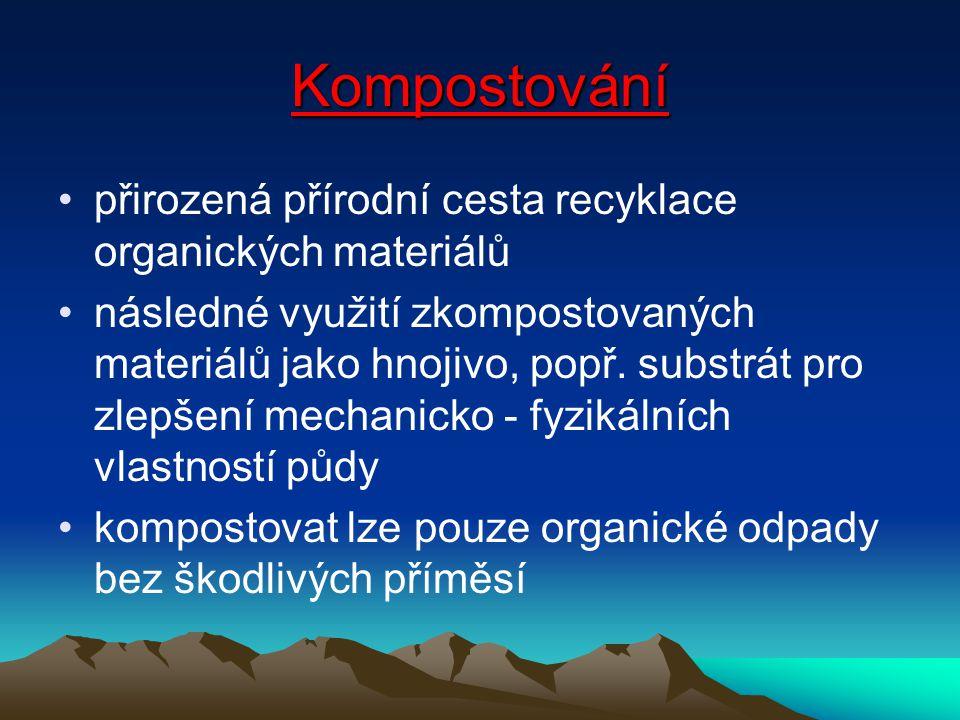 Kompostování přirozená přírodní cesta recyklace organických materiálů