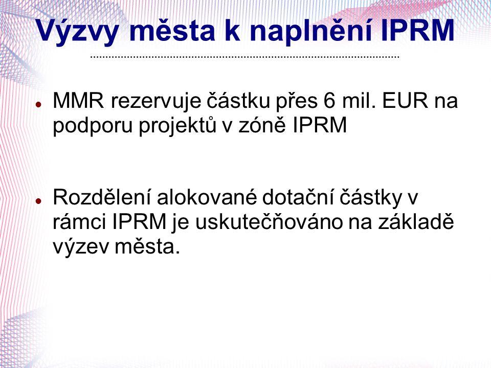 Výzvy města k naplnění IPRM